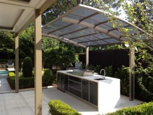 Awnings to prtect you when barbequeing