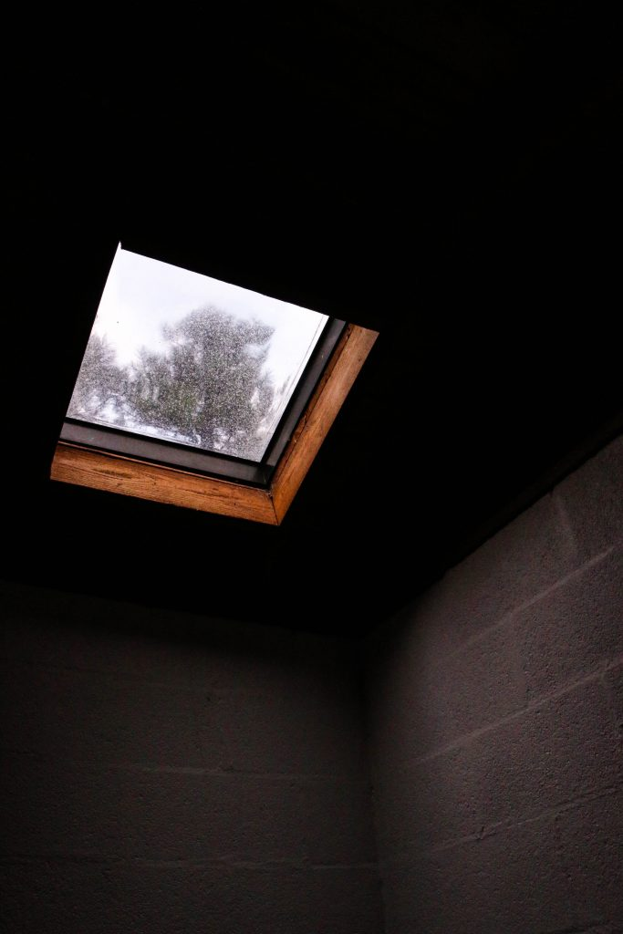 remove skylight and roof cover